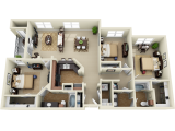 The Suites at Overton Park Lubbock Floor Plan Layout
