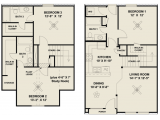 Waterwood Townhomes at Central Park College Station Floor Plan Layout