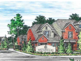 Waterwood Townhomes at Central Park College Station Exterior and Clubhouse