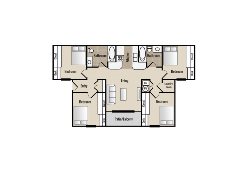 College Edge Bryan Floor Plan Layout