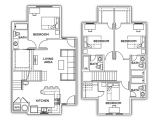U Club Townhomes on Marion Pugh College Station Floor Plan Layout